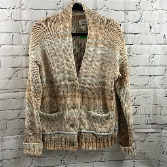 Wilfred free knit button up sweater